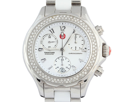 Michele White Tahitian Diamond Watch