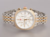 Michele Large Ascalon Two-Tone Diamond Chronograph Watch