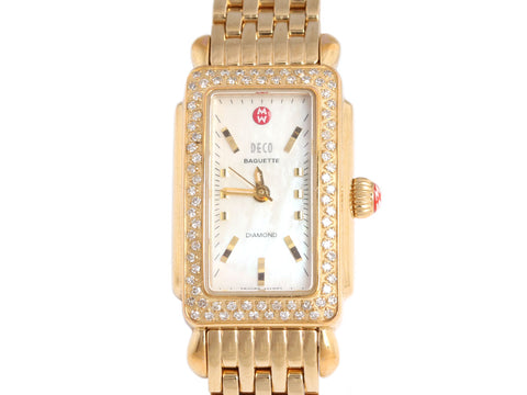 Michele Diamond Deco Baguette Watch
