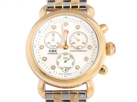 Michele Two-Tone Diamond Chronograph CSX 36mm