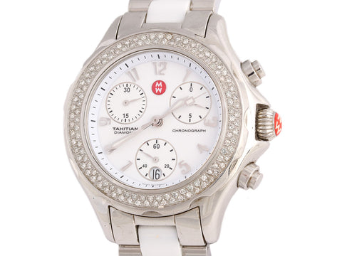 Michele Tahitian Diamond Ceramic Watch 36mm