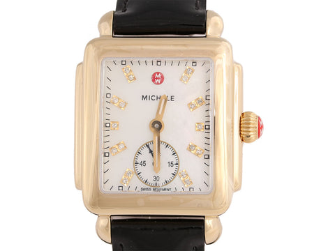Michele Diamond Deco Mid Watch