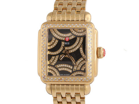 Michele Art of Deco Diamond Watch 35mm