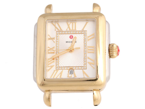 Michele Two-Tone Diamond Deco II Watch 35mm