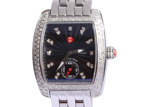 Michele Stainless Steel Diamond Mini Urban Ladies Watch