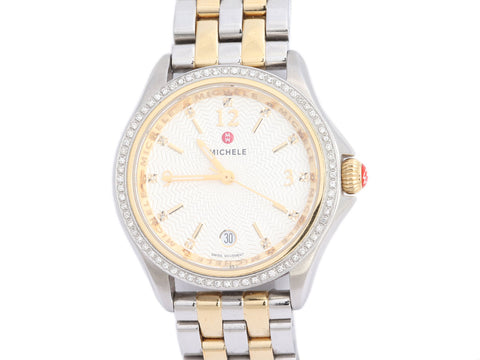 Michele Two-Tone Diamond Belmore Watch 35mm
