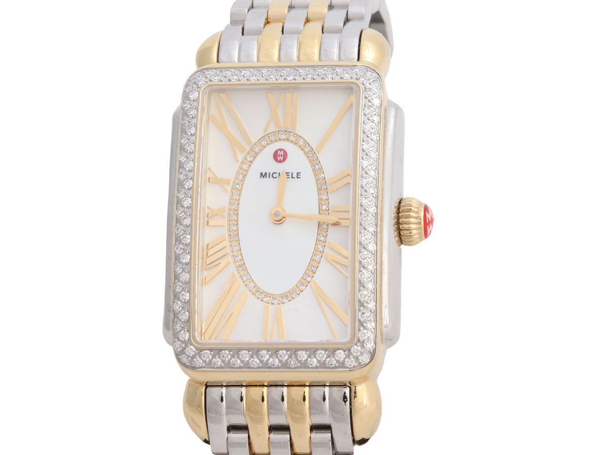 Michele Two-Tone Diamond Deco Park Watch