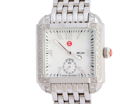 Michele Stainless Steel Diamond Milou Watch