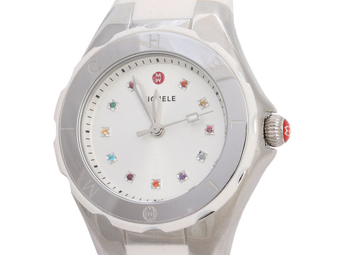Michele Stainless Steel Tahitian Jelly Bean Watch 34mm