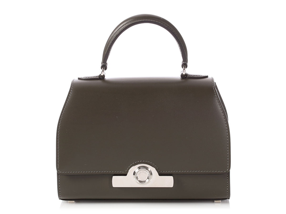 Moynat Dark Olive Gray Box Calfskin BB/Mini Réjane