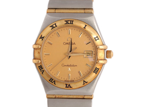 Omega Two-Tone Stainless Steel and 18K Gold Constellation Watch 28mm