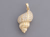 Alamea Hawaii 14K Yellow Gold Diamond Conch Shell Pendant