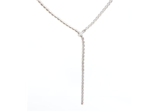 Piaget 18K White Gold and Diamond Possession Lariat Necklace