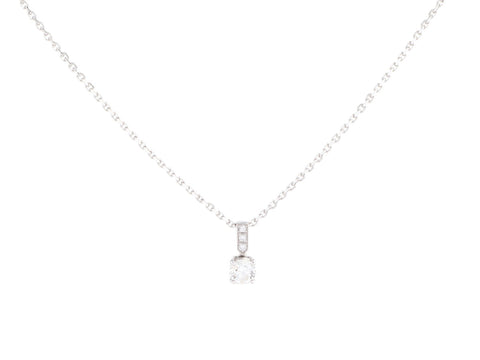 Piaget 18K White Gold 0.31-Carat Diamond Solitaire Pendant Necklace