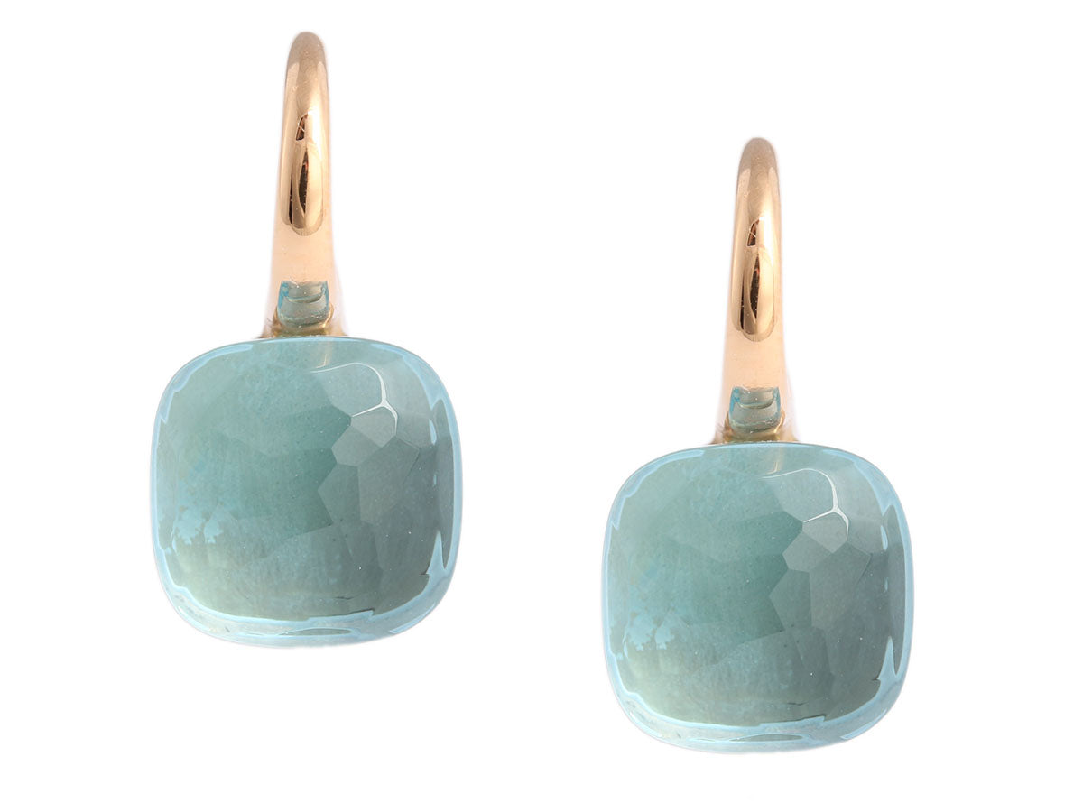 Pomellato Blue Topaz Nudo Earrings