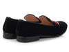 Prada Black Velvet Lip Smoking Slippers