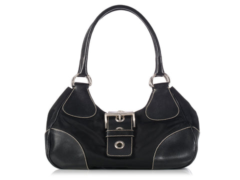 Prada Black Nylon Moon Bag
