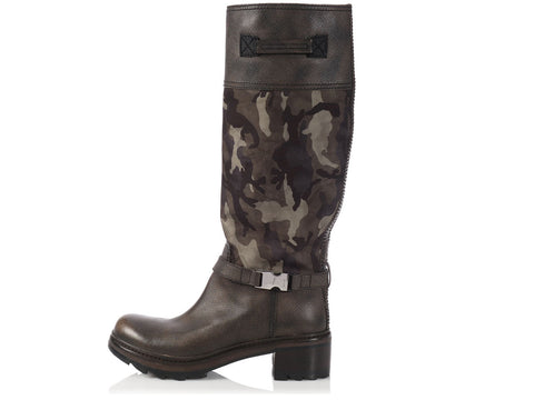 Prada Camouflage Riding Boots