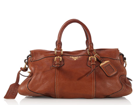 Prada Brown Leather Satchel