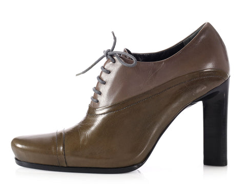 Prada Two-Tone Oxford Pumps