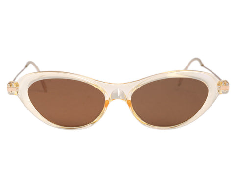 Prada Light Amber Cat Eye Sunglasses