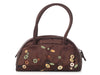 Prada Small Brown Embellished Satin Bag