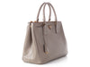 Prada Medium Gray Saffiano Lux Double Zip Tote