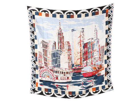 Prada New York City Silk Scarf