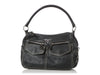 Prada Black Vitello Daino Semitracolla Shoulder Bag
