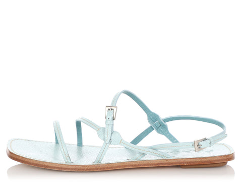 Prada Lago Strappy Sandals