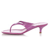 Prada Purple Kitten Heel Thong Sandals