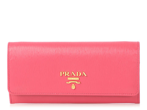 Prada Peonia Vitello Move Wallet on a Chain