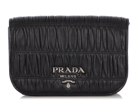 Prada Small Black Nappa Gaufre Crossbody
