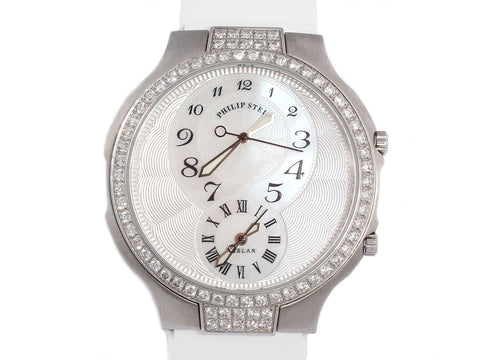 Philip Stein Round Diamond Teslar Watch