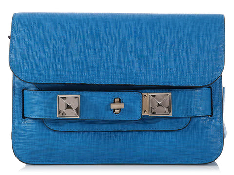 Proenza Schouler Sea Blue PS11 Mini Classic