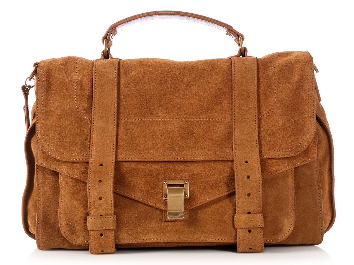 Proenza Schouler Large Tobacco Suede PS1