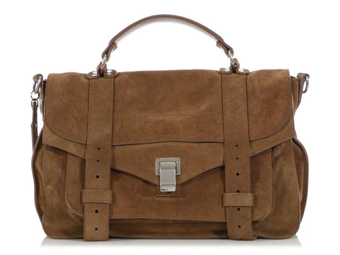Proenza Schouler Medium Brown Suede PS1