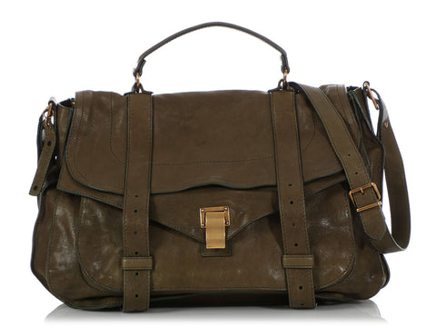 Proenza Schouler Extra Large Olive Green PS1