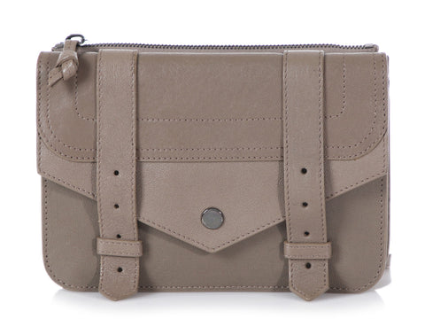 Proenza Schouler Taupe PS1 Crossbody Wallet