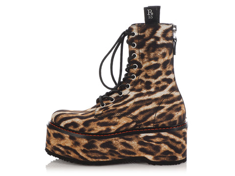 R13 Leopard Platform Army Boots