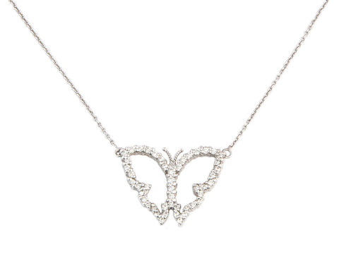 Roberto Coin Diamond Butterfly Necklace