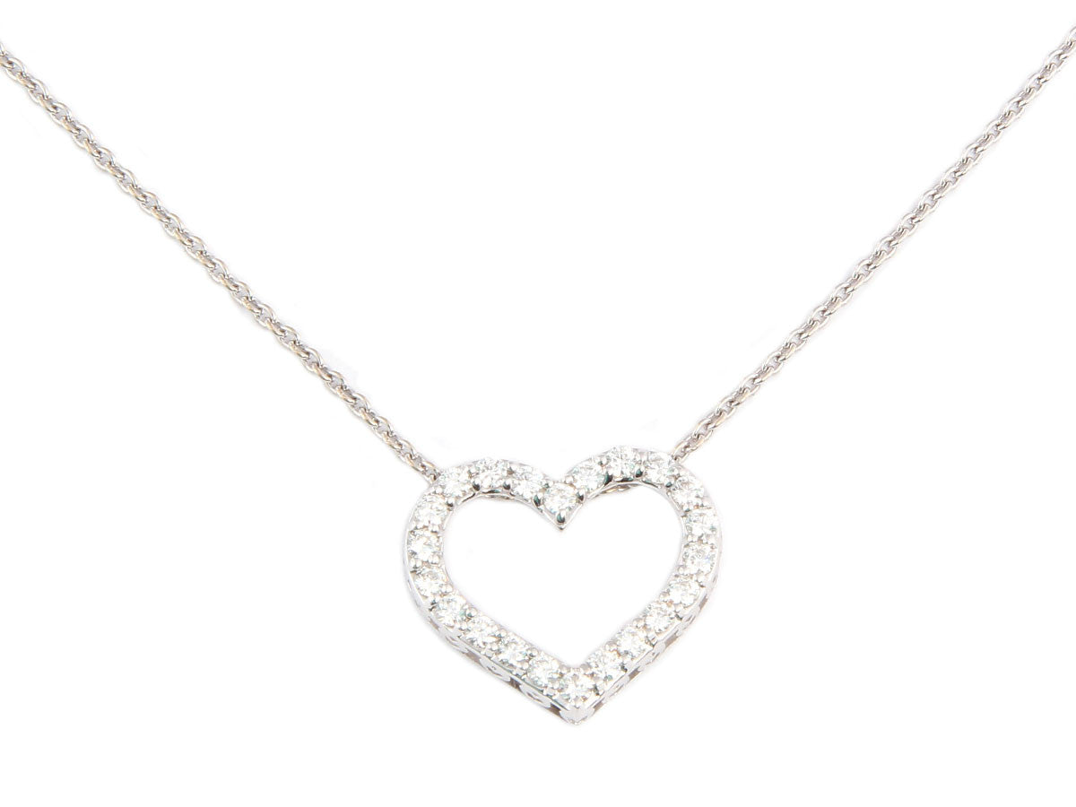 Roberto Coin Diamond Open Heart Necklace