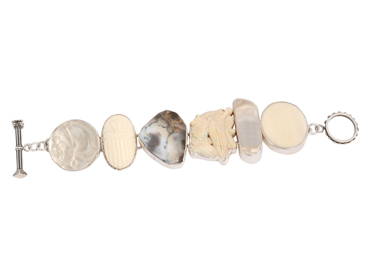 Rebecca Collins Six Component Cream Bracelet