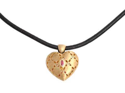 Roberto Coin Diamond Granada Heart Necklace