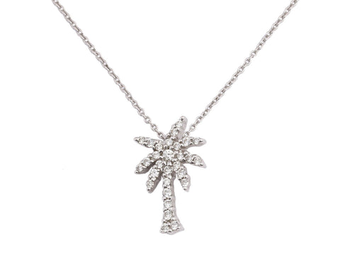 Roberto Coin 18K Gold Diamond Palm Tree Tiny Treasures Necklace