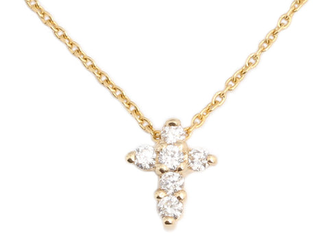 Roberto Coin 18K Gold Diamond Tiny Treasures Cross Necklace