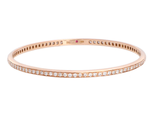 Roberto Coin 18K Rose Gold Diamond Bangle