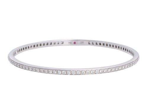 Roberto Coin 18K White Gold Diamond Bangle