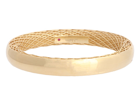 Roberto Coin 18K Yellow Gold Golden Gate Slim Bangle