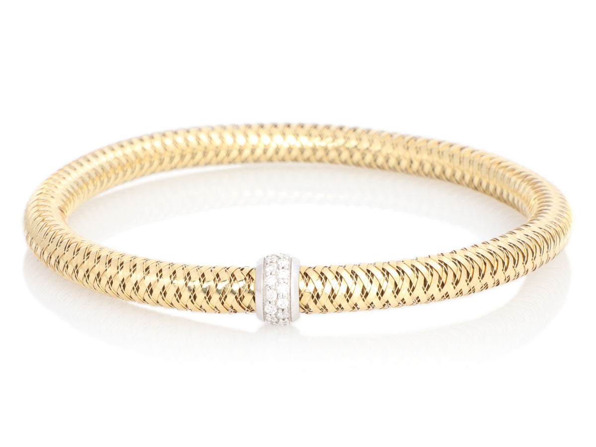 Roberto Coin 18K Yellow Gold and Diamond Primavera Bracelet
